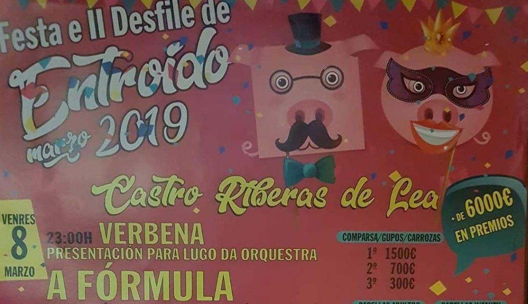 Festa e II Desfile do Entroido en Castro Ribeiras de Lea | 8 e 9 de Marzo